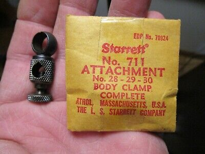 New Starrett 711 Last Word Dial Test Indicator Complete Body Clamp Attachment