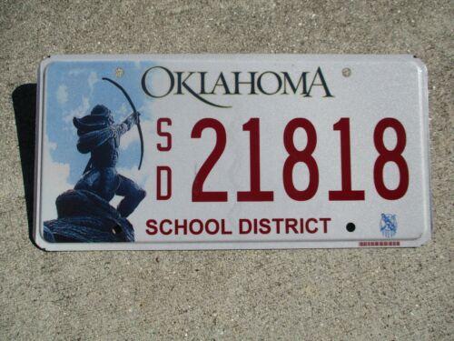 Oklahoma School District license plate #  21818