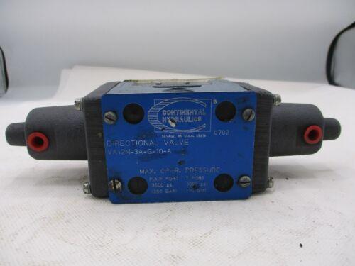 NEW CONTINENTAL HYDRAULICS VA12M-3A-G-10-A DIRECTIONAL VALVE