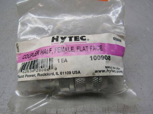 Hytec 100908 Coupler Half, Female, Flat Face