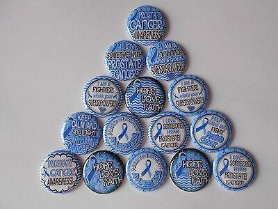"15 ct 1"" Prostate Cancer Awareness Blue Pinbacks Flatbacks cabuchon"