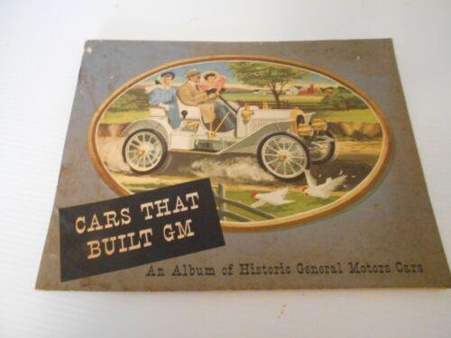 ANTIQUE VINTAGE BOOKLET  OF CARS THAT BUILT GM - 22 PAGES. COPYRIGHT 1954