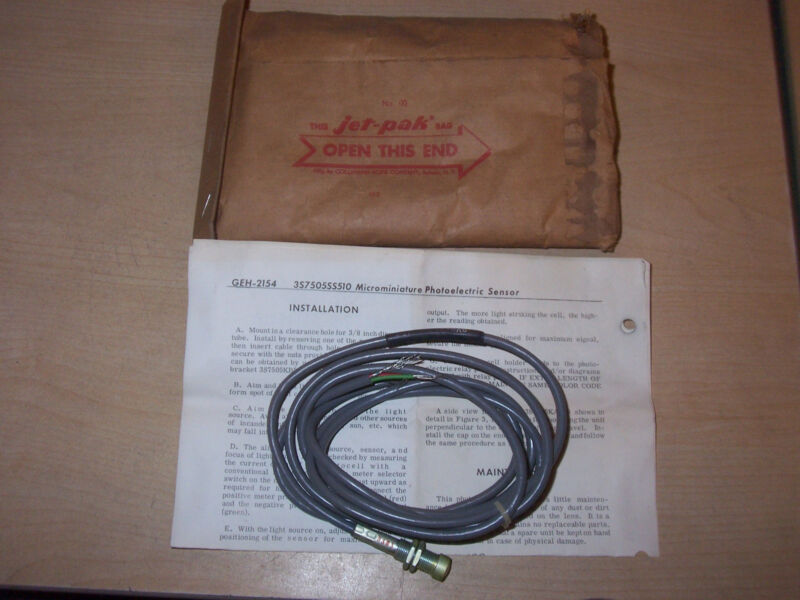 NEW GE GENERAL ELECTRIC 3S7505SS510A6 MICROMINIATURE LIGHT SOURCE SENSOR