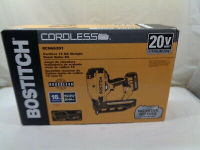 BOSTITCH 20V MAX 16GA STRAIGHT FINISH NAILER KIT (NEW) MODEL # BCN662D1