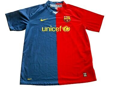 SZ XL BARCELONA 2008 2009 HOME FOOTBALL SHIRT SOCCER JERSEY RARE NIKE FUTBOL FC Barcelona Home Soccer Shirt