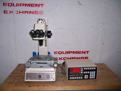 11442 Nikon Mm-40 Measuring Microscope W Quad-check 2000 2x2 Stage 10x Lens