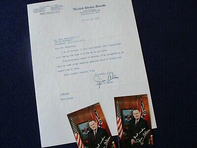 1969 James B. Allen (Alabama Senator) Signed Letter