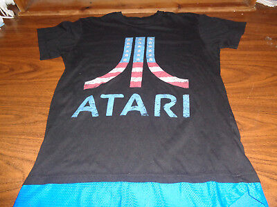 Atari shirt size Large L Video Game Pong Retro Classic Gaming RARE Console
