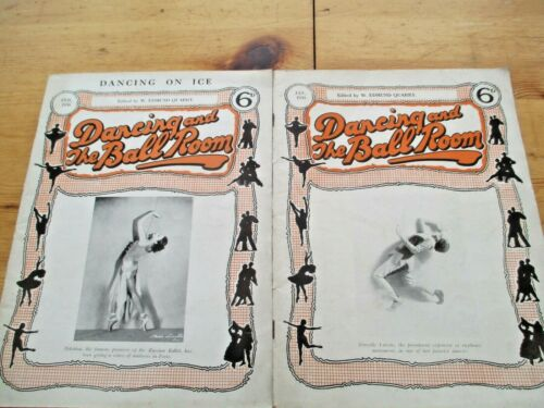 "RARE. 1930 ""DANCING AND THE BALLROOM"" MAGAZINES X 2 ."