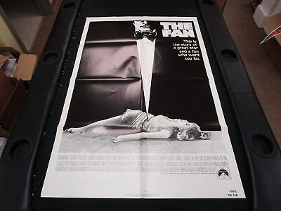 1 Sheet Movie Poster The Fan 1981 Lauren Bacall James Garner Michael Biehn