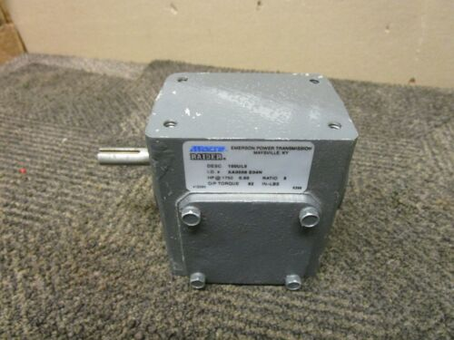 EMERSON MORSE RAIDER 100UL5 XA0008 E04N SPEED REDUCER 5:1 RATIO 82IN-LBS