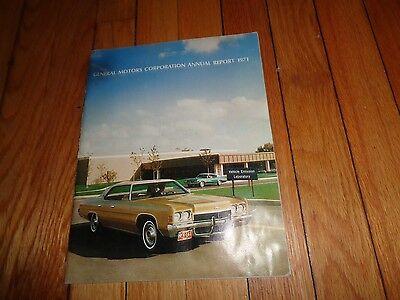 General Motors Annual Report 1971 Chevrolet Cadillac Buick Pontiac
