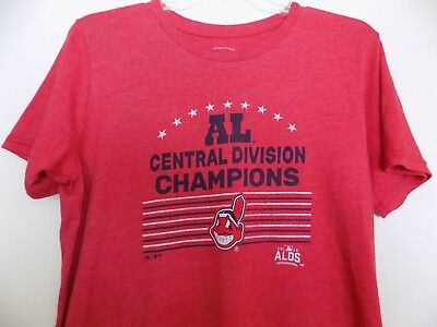 Raise The Flag American League Champions Cleveland Indians T-Shirt M L XL