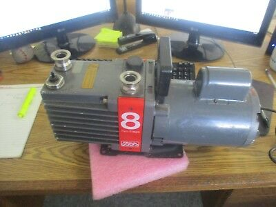 Edwards E2m8 High Vacuum Pump. Model 8 Two Stage With Franklin Motor