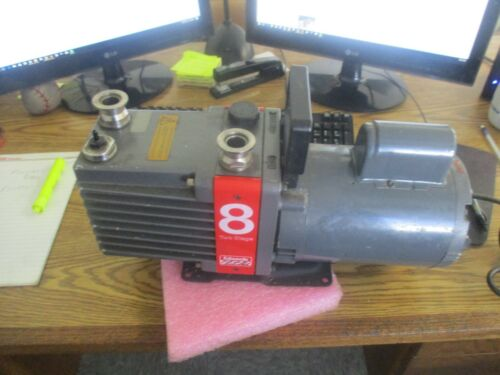 Edwards: E2M8 High Vacuum Pump.  Model 8 Two Stage with Franklin Motor <