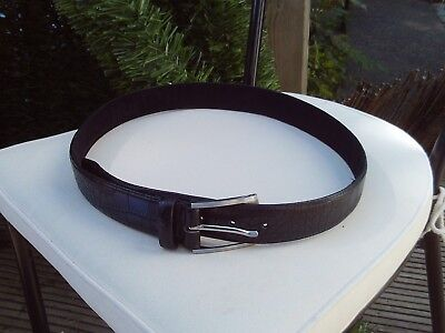 Mens black belt - 41 inches long - size M
