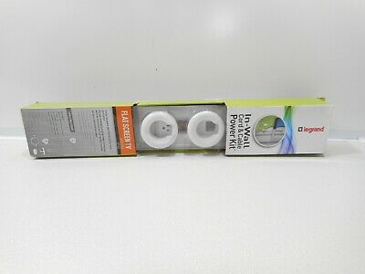 Legrand In-Wall Wiremold Cord & Cable Power Kit WMC701 - White