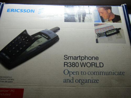VINTAGE ERRICSON R380 WORLD PHONE  WITH BOX NEEDS BATTERY