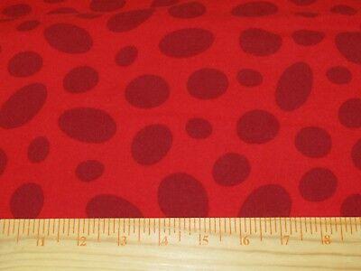 Celebrate Dr. Seuss Claret Tonal Spot Red Robert Kaufman FLANNEL Fabric 1/2 YARD