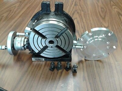 6 Horizontal Vertical Rotary Table W. Centering Base Adapter In-tsl6-adp-new