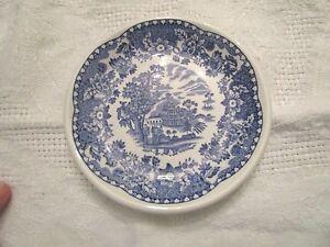 Enoch & Ralph Wood's Burslem England Seaforth blue dish small plate 4.5