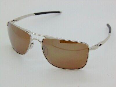 OAKLEY GAUGE 8 L OO4124-0562 Chrome/Tungsten Iridium Polarized 62mm Sunglasses