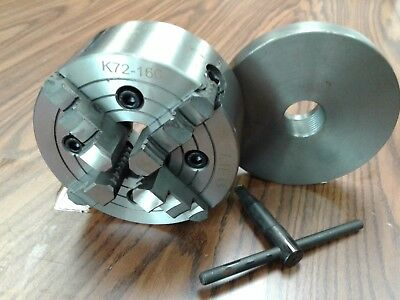 6 4-jaw Lathe Chuck W Independent Jaws W 1-12-8 Adapter Semi-finish 0604f0
