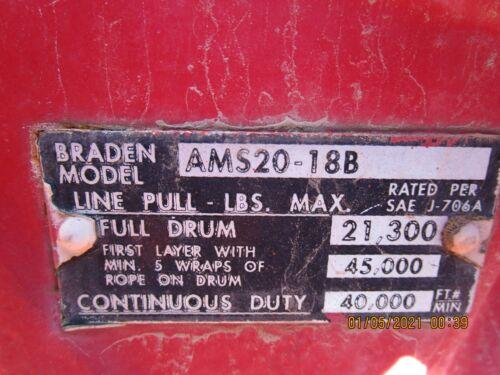 +Braden Winch AMS20-18B 40K Lbs Truck Mount