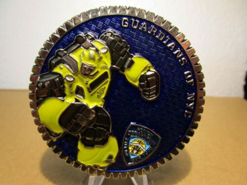 NYPD New York Police Department Transformers Bumblebee Challenge Coin #534B