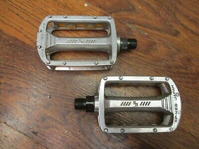 """Pair of white pedals bsc bike city 9//16/"""" retro vintage collection"""
