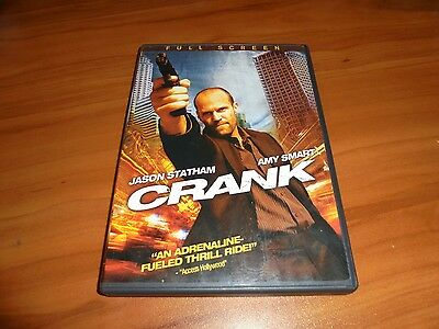 Crank  Dvd  2007  Full Frame   Jason Statham  Amy Smart Used