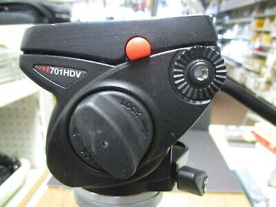 Manfrotto 701HDV tripod fluid head manfrotto 701hdv video head mint HEAD ONLY