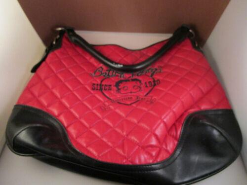Vintage Betty Boop American Icon Handbag Purse Red Black Quilted