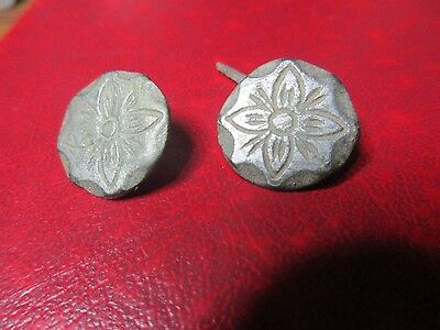 Antique Button - Spanish Medieval - 2 X 18mm T004