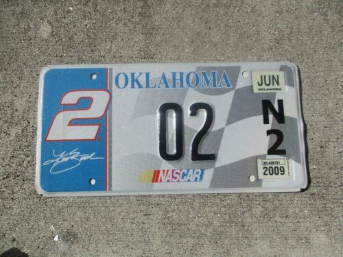 Oklahoma 2009 NASCAR # 2  license plate  #    2