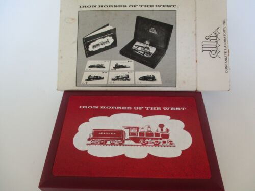 Santa Fe Railroad Photo Playing Cards-Iron Horses of the West-Complete Box