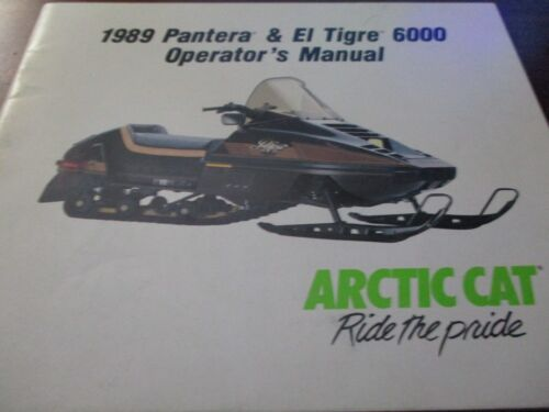 Arctic Cat Pantera, El Tigre 6000 Snowmobiles Operator