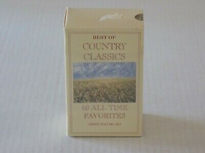 The Best of Country Classics Cassettes 60 All Time Favorites 3 Volume Set (The Best Classical Music Of All Time)