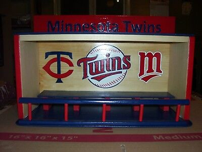 Minnesota Twins Bobble Head Display Case as pictured or choice of layouts  (Minnesota Twins Display Case)