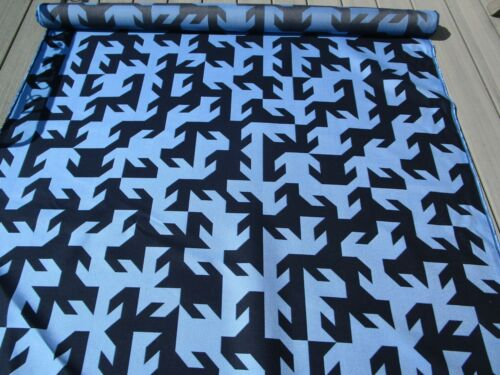 Royal Blue & Dark Navy 4.55Yds  Modern Geometric Outdoor Fabric Upholstery