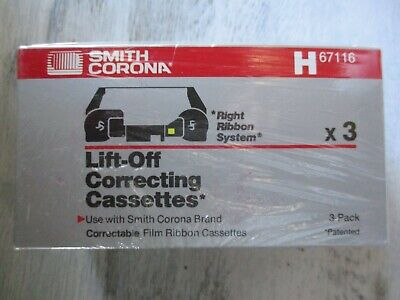 Lot 3 Smith Corona Lift-off Correcting Cassettes Right Ribbon System H67116 Nip