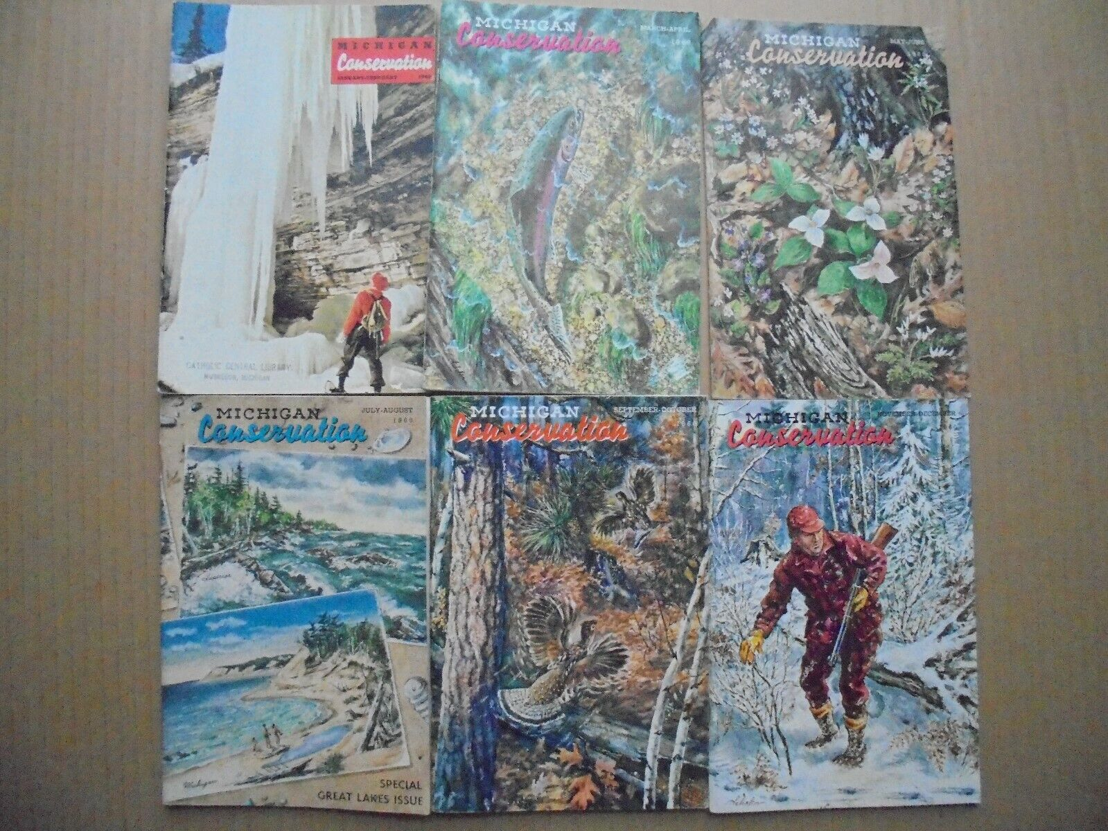 1960 MICHIGAN CONSERVATION MAGAZINES ALL SIX - HUNTING, FISHING AND MORE.  - $17.95