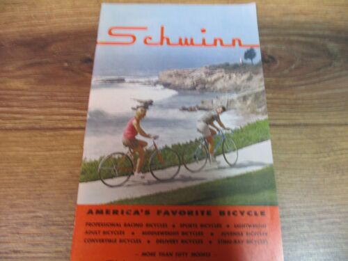 Schwinn 1965 Original Bicycle Sales Catalog~Brochure~Bikes-65