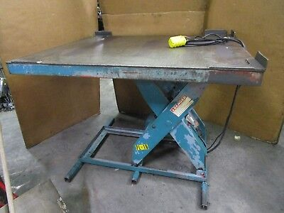 Lee L36-30-m0d 3000lbs 60 X 48 Scissor Lift Table 120 Volt 1ph Max Height 44