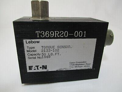 Eaton Lebow Torque Sensor Transducer Model 2133-102 50 Lb T369r20-001
