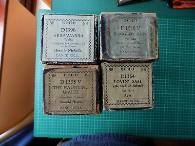 Pianola Piano Rolls 88-note x4 Echo Make Hand-Played Waltzes and Foxtrots