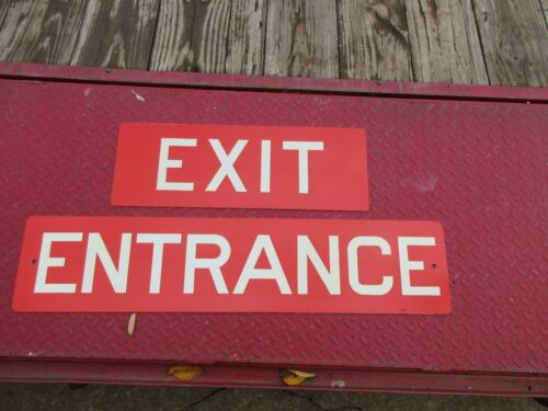 EXIT/ENTRANCE METAL SIGNS/NEVER USED