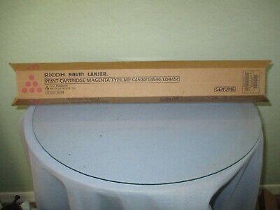 Genuine Ricoh Savin Lanier Mp C4500 C4540 Ld445c Magenta Toner Cartridge New