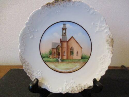 Circa 1910 Souvenir Porcelain Dish Baptist Church Toulon Illinois Wheelock #