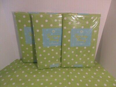 NIP ELRENE Green White Polka Dot Party Vinyl Wipe Off Tablecloth~Oval~Oblong](Polka Dot Tablecloths)